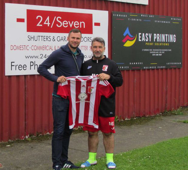 Mark Davison and Sunderland RCA manager Martin Swales